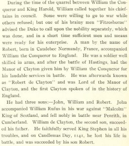 de clayton, norman invasion, william the conqueror