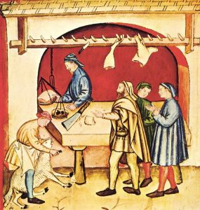 butchers in Middle Ages
