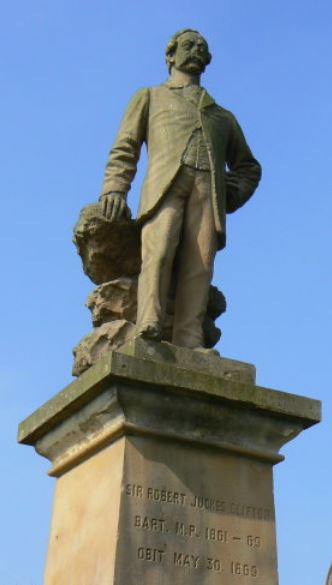 Sir Robert Juckes Clifton, 9th Baronet, statue