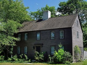 the seventeenth century John Chase house in West Newbury Massachusetts