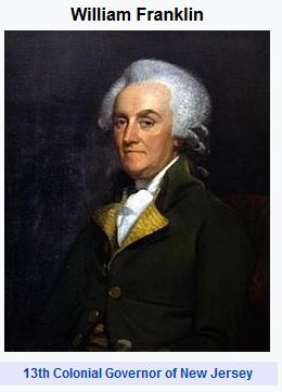 William Franklin, new jersey, governor