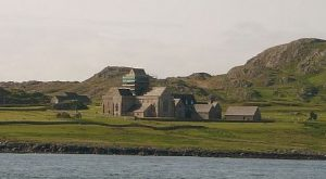 abbey on island on Iona, Inner Hebrides