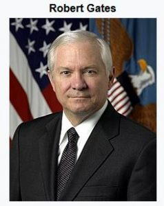 Robert Gates, secretary of defense