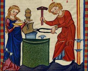 medieval, cutler, occupation
