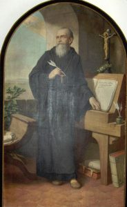 alt='Portrait of St. Benedict'