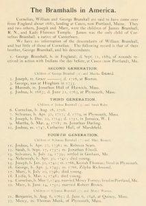 bramhall family history