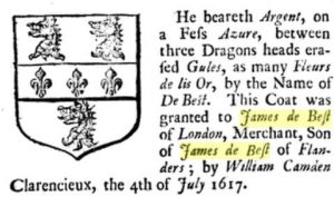 james de best, heraldry