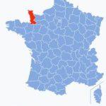manche, france, map