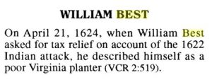 william best, virginia