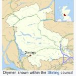 drymen, scotland, map