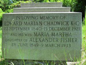 Edward Marion Chadwick, memorial
