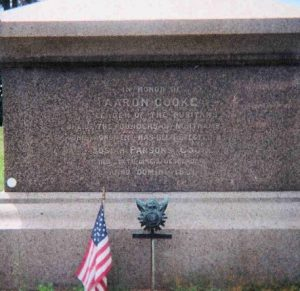 Major Aaron Cooke, Jr. , grave, memorial