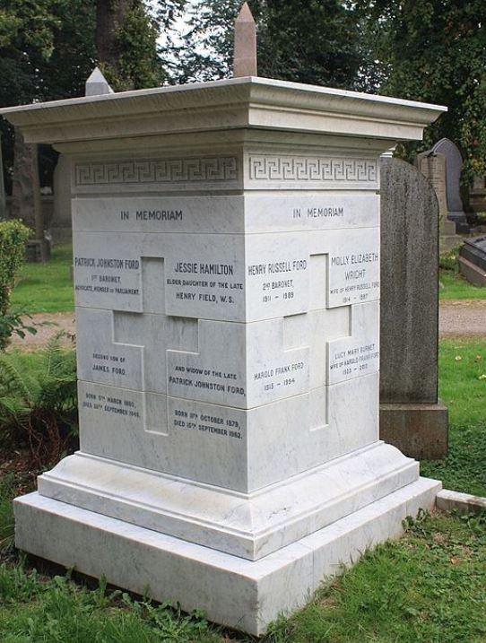Ford baronets grave memorial