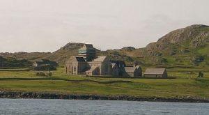 abbey on island on Iona, Inner Hebrides