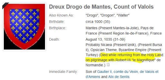 Count Dreux or Drogo