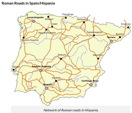 roman roads, spain, hispania