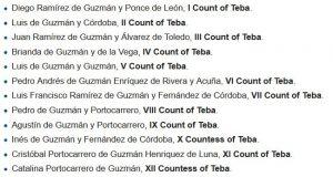 Counts of Teba