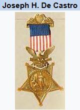 Corporal Joseph H. De Castro, hispanic, civil war, medal of honor